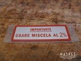 Mengsmering sticker 2% rood VNB/VBA/VBB/GLA-B/G-X_