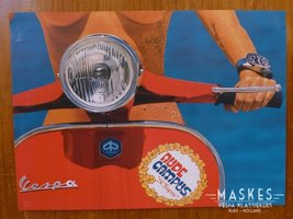 Poster vespa Rally rood 1 girl