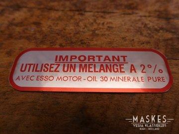 Mengsmering sticker 2% rood MISA  GL-A