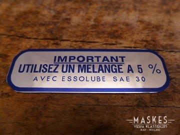 Mengsmering sticker 5% blauw MISA  GS160