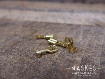 Schuif stekker 6 mm (vrouwtje)