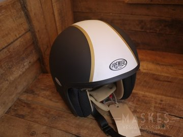 Premier helm zwart striping