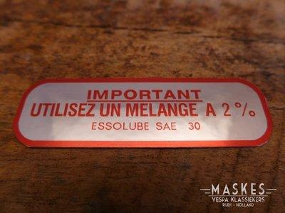 Mengsmering sticker 2% rood MISA VNB /GLB-GL-X
