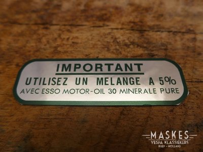 Mengsmering sticker 5% groen MISA  VN/VL/VGL/VNA