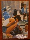 Poster Vespa 150 Super blauw 1 girl