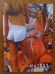 Poster vespa P serie Oranje  2 girl