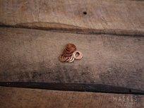 Koperen ring voor olio-bout