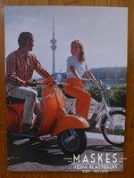 Poster vespa Rally Oranje 1 girl