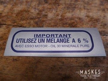 Mengsmering sticker 6% blauw MISA GS150